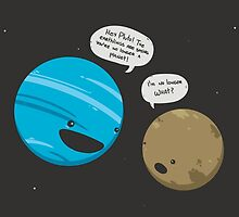 Pluto Getting the News by Lili Batista