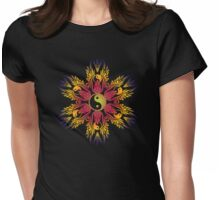 yingyang circle Womens Fitted T-Shirt