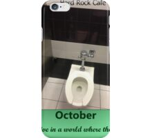 Toilets of New York 2015 October - Hard Rock Cafe iPhone Case/Skin