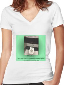 Toilets of New York 2015 October - Hard Rock Cafe Women's Fitted V-Neck T-Shirt