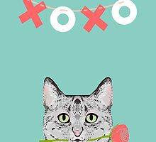 Cat love valentine gift for cat lady cat person gifts cell phone cases with cats by PetFriendly