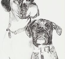 Two Boxers by L K Southward