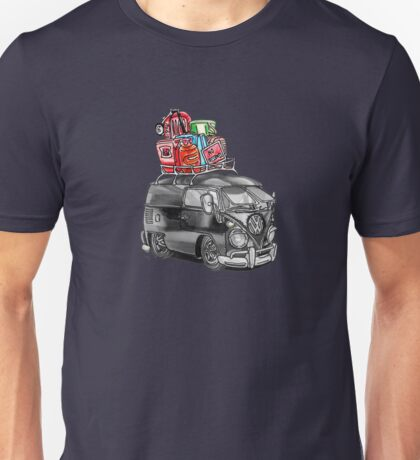 VW Type 2 Bus Split Screen Panel Cartoon Unisex T-Shirt