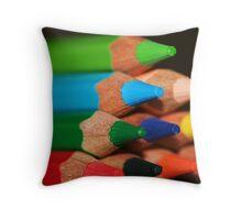 Lapices de Colores V Throw Pillow