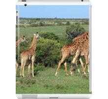 Masai Mara Giraffe Family  iPad Case/Skin