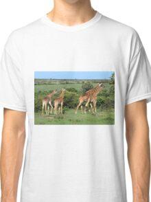 Masai Mara Giraffe Family  Classic T-Shirt