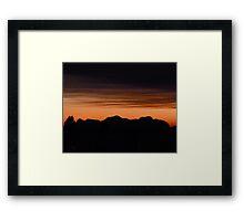 Kata Tuja - Olgas Sunset Framed Print