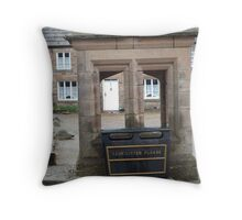 Rubbish bin in Blanchland Throw Pillow