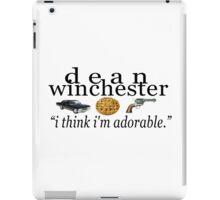 dean winchester - i think i'm adorable iPad Case/Skin