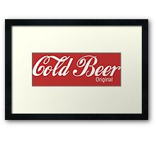 Cold Beer Framed Print