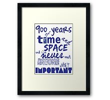 doctor who - 900 years of time and space Framed Print