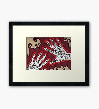 Graceful Hands Framed Print