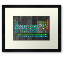 License Plate Art Recycled Periodic Table Of The Elements By Design Turnpike Framed Print