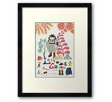 Bear Travel - Let's Go Framed Print