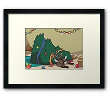 Christmas Decorating Framed Print