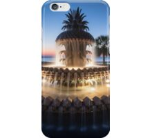 Charleston South Carolina Pineapple Fountain Scenic  iPhone Case/Skin