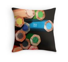 A colorful ending Throw Pillow