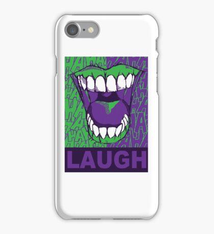 LAUGH purple iPhone Case/Skin