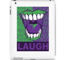 LAUGH purple iPad Case/Skin
