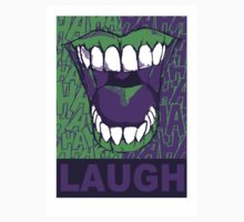 LAUGH purple Kids Tee