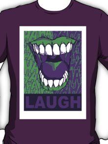 LAUGH purple T-Shirt