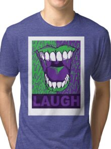 LAUGH purple Tri-blend T-Shirt