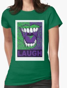 LAUGH purple Womens Fitted T-Shirt