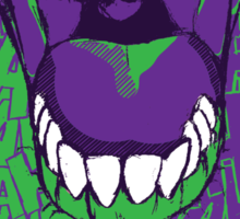 LAUGH purple Sticker