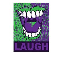 LAUGH purple Photographic Print
