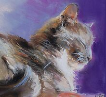 Contented ( Cat ) From original pastel by Madeleine Kelly by Madeleine Kelly