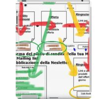 Flow Chart iPad Case/Skin