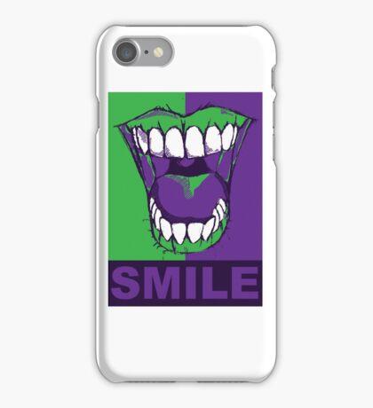 SMILE purple iPhone Case/Skin
