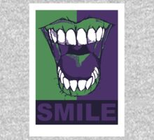 SMILE purple One Piece - Long Sleeve