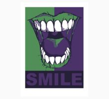 SMILE purple Baby Tee