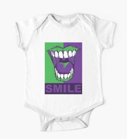 SMILE purple One Piece - Short Sleeve