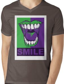 SMILE purple Mens V-Neck T-Shirt