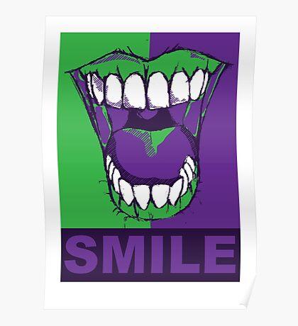 SMILE purple Poster
