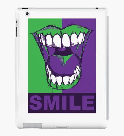 SMILE purple iPad Case/Skin