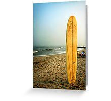 Long Beach Island Sufboard at Sunset Greeting Card