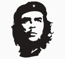 Che Guevara, Revolution, Revolutionary, Cuba, Power to the people! Black on Red Kids Clothes