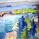 Windy Seas, Monhegan by brettonarts