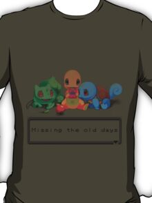 """Pokemon """"Missing the old days"""" T-Shirt"""