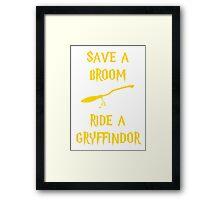 Harry Potter Ride a Gryffindor Framed Print