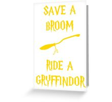 Harry Potter Ride a Gryffindor Greeting Card