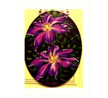 Clematis: Nelly Moser Art Print