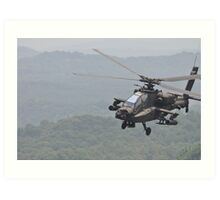 Apache Coming in for the Attack Art Print