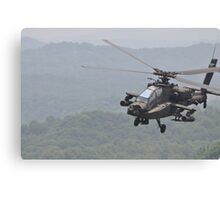 Apache Coming in for the Attack Canvas Print