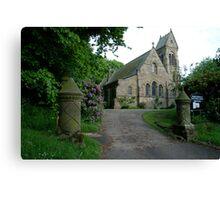 St. Hildas' church at Egton,  in the north yorks moors national park Canvas Print