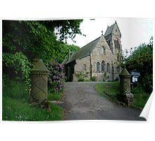 St. Hildas' church at Egton,  in the north yorks moors national park Poster