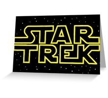 Star Trek - Star Wars parody Greeting Card